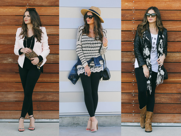 3 Ways to Wear BLANQI Leggings | BondGirlGlam.com