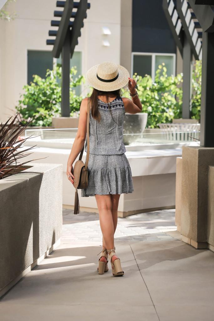 #OOTD // Printed Tassel Tank Dress   BondGirlGlam.com