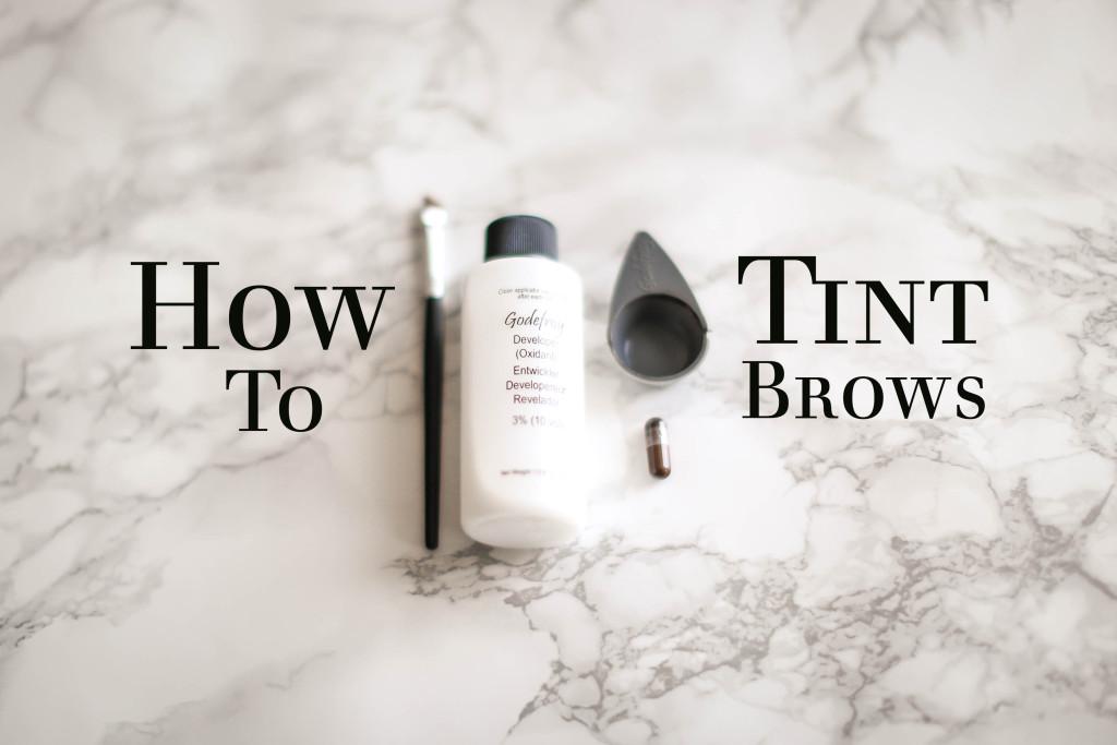 How To // Eyebrow Tinting Tutorial | BondGirlGlam.com