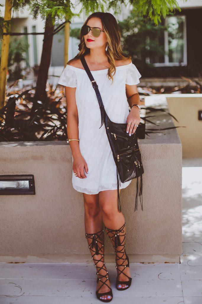 #OOTD // White Off-the-Shoulder Dress | BondGirlGlam.com