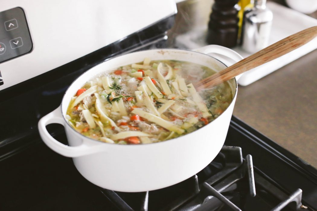 Easy Whole Chicken Noodle Soup In A Dutch Oven Bondgirlglam Com A Fashion Beauty Lifestyle Blog By Irina Bond