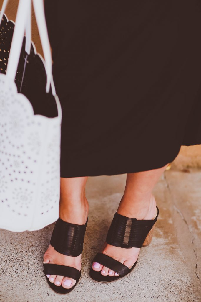 #BumpStyle // Split Kimono Sleeve Black Maternity Maxi Dress   BondGirlGlam.com