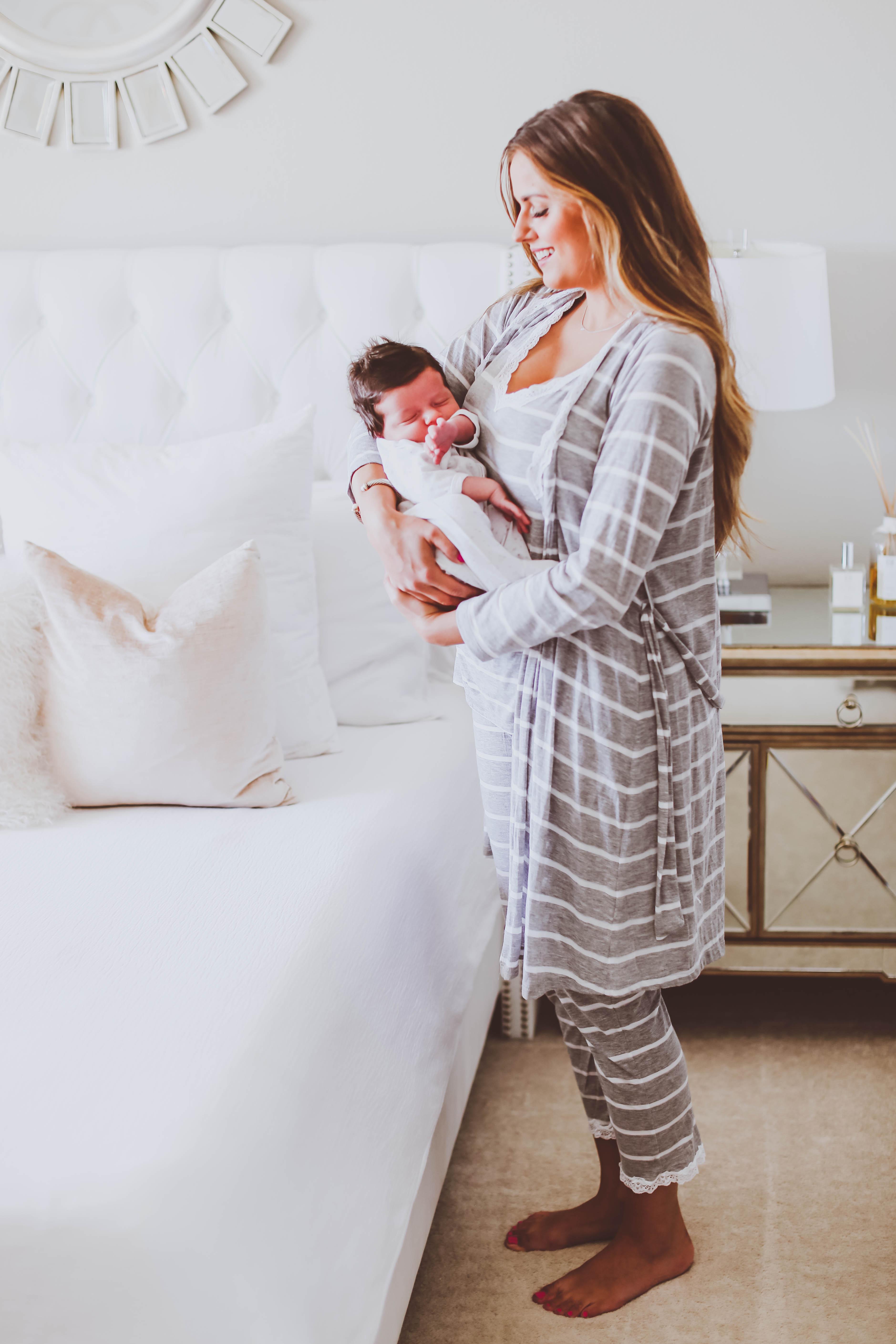 belabumbum, maternity pajamas, nursing-friendly pajamas, postpartum pajamas