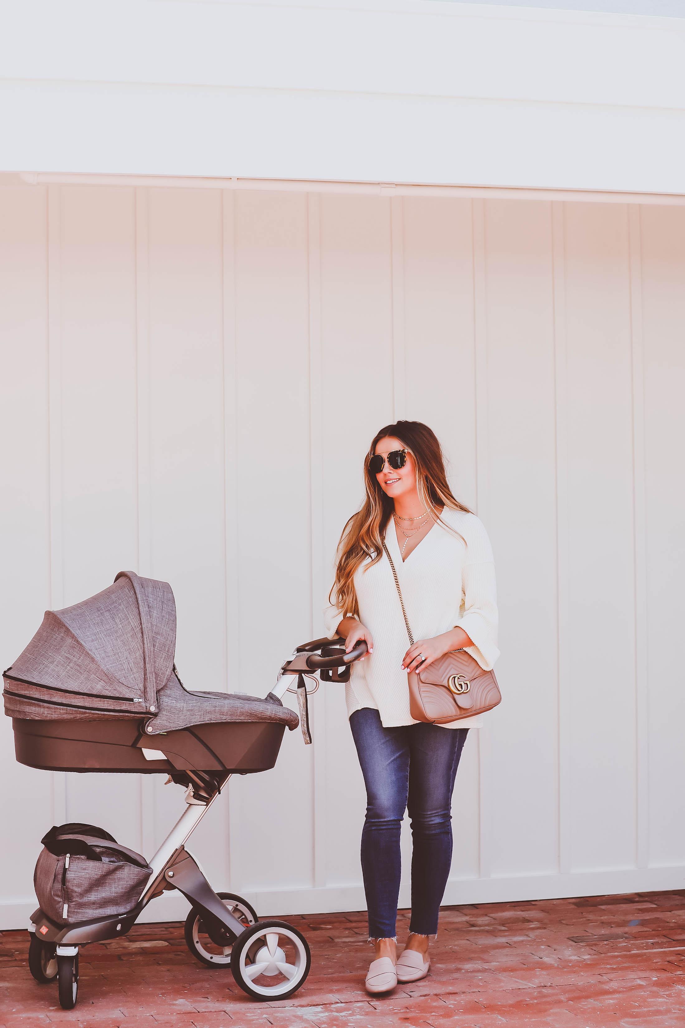 #OOTD // Ivory Cuff Sleeve Pullover & The Most Flattering Raw Hem Skinny Jeans | BondGirlGlam.com