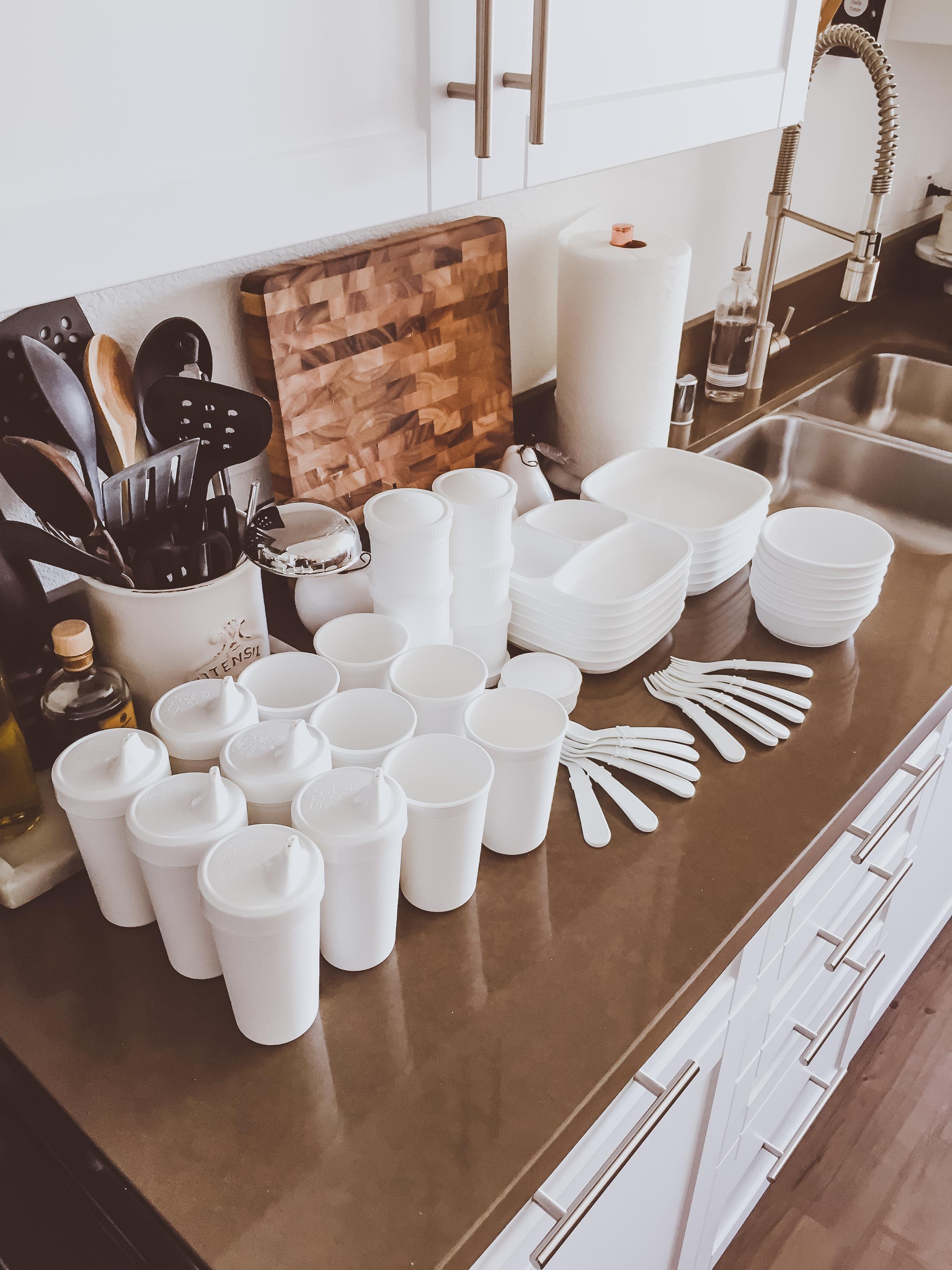 All-White Baby & Toddler Plastic Tableware | BondGirlGlam.com