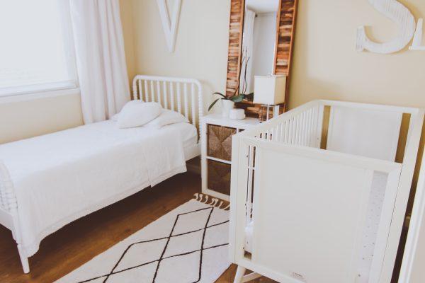 Neutral Shared Boy & Girl Kids Bedroom | BondGirlGlam.com