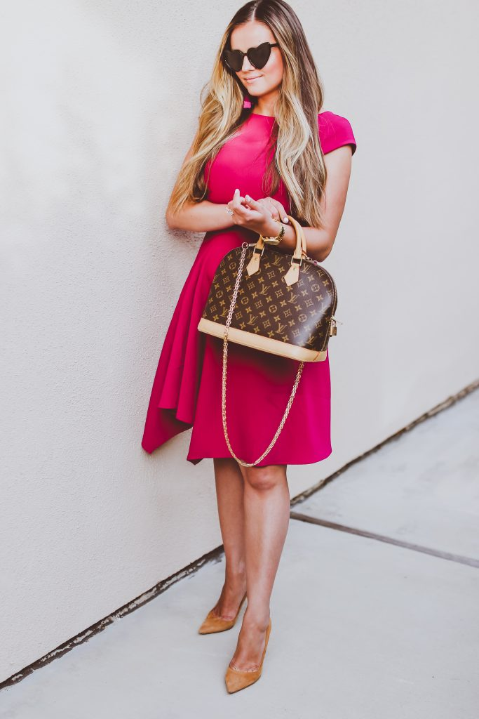 #OOTD // The Perfect Fit & Flare Office Dress | BondGirlGlam.com