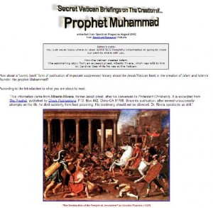 Secret Vatican Briefings on the Creation of Muhammad