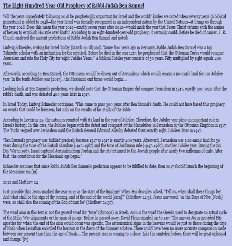 2018 – 2020 possible (Rapture) Timeline | Tribulation-Now