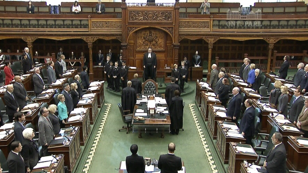 MPPs gather at Queen's Park for Question Period