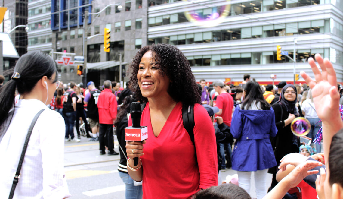 Seneca Journalism students cover Raptors Parade