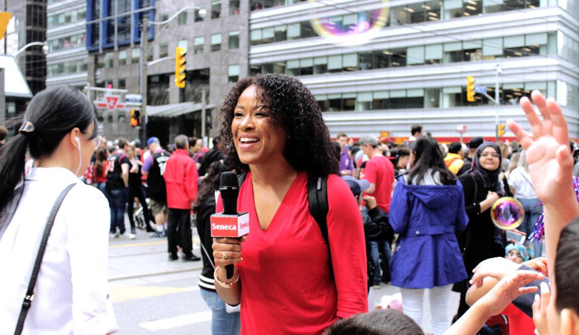 Seneca Journalism students cover Raptors Parade