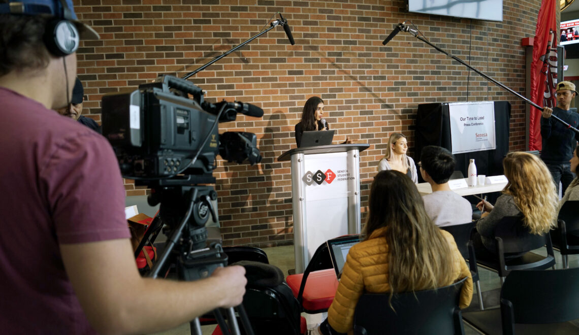 PR Students Master The Art Of Press Conferences