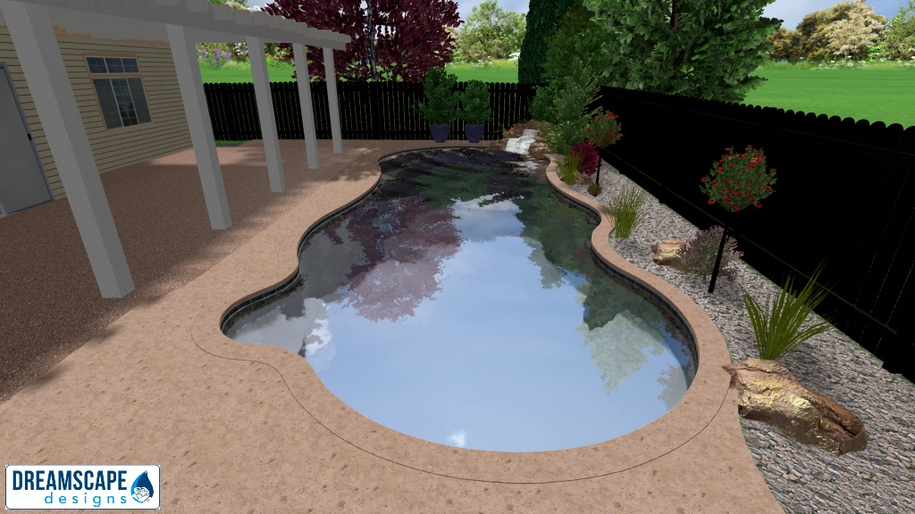 The 3D Design for the Pool and Landscape