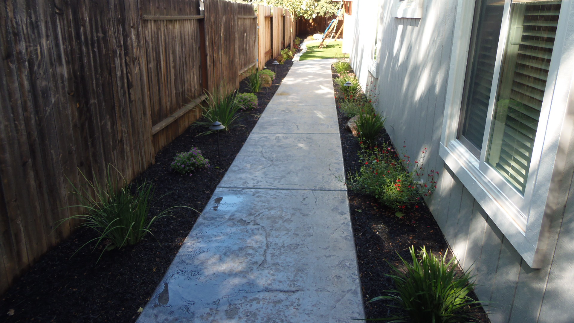 Side Path - New Landscape Completed
