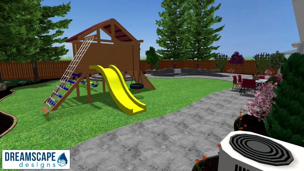 Backyard View 1 - New 3D Design