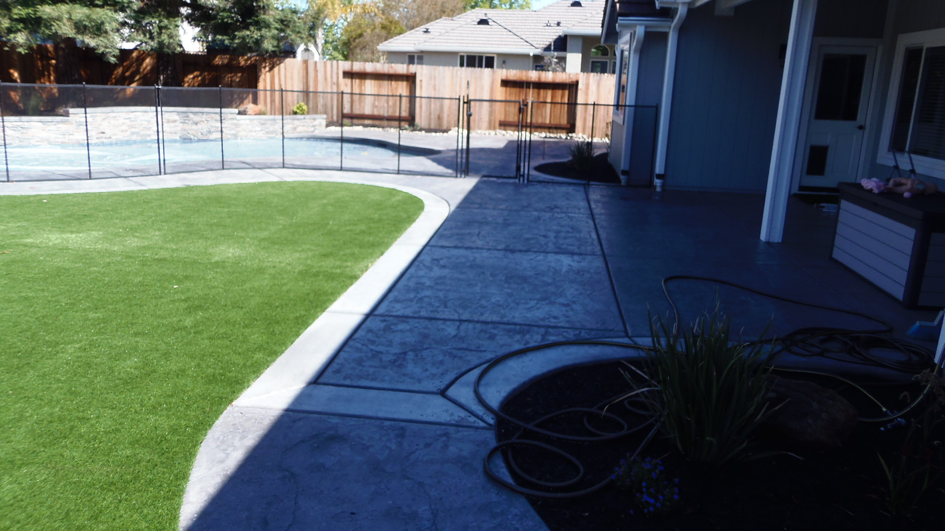 Backyard View 2 - New Landscape Completed