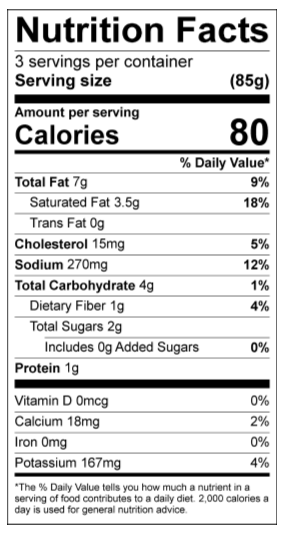 Tikka Masala Nutrition