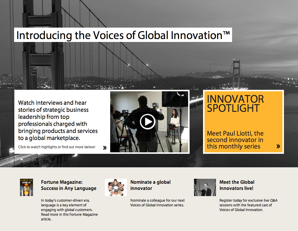 Voices of Global Innovation