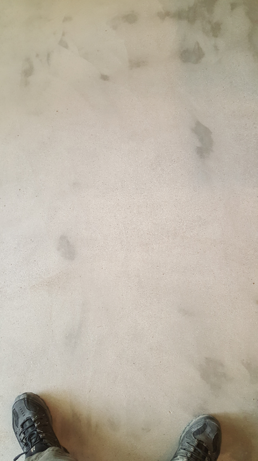 Concrete after grinding