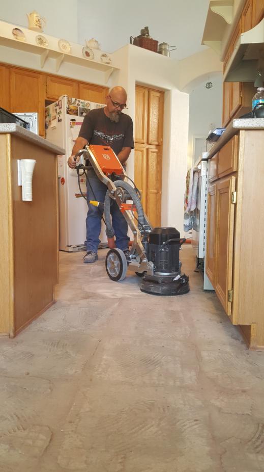 Floor grinding of thinset