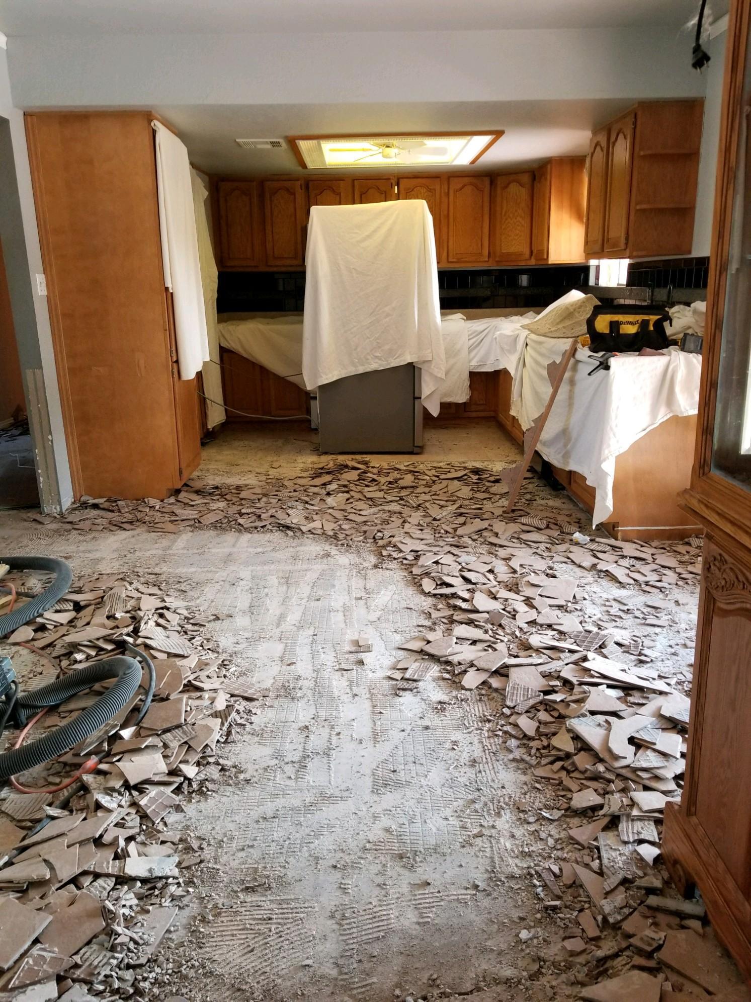 Dustless Tile Removal Phoenix AZ - Dust Sucker Demolition : Dust Free Tile Removal