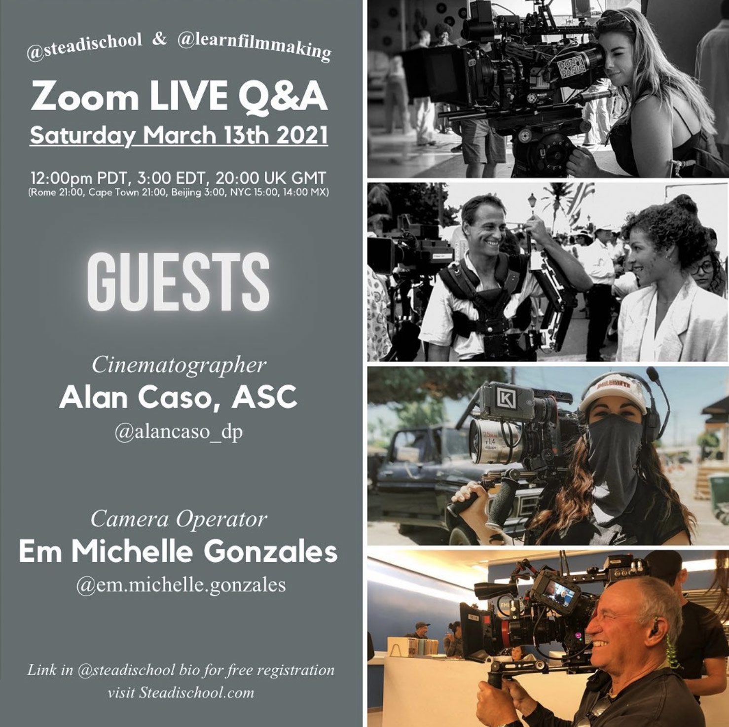 Our guests are Award Winning Cinematographer Alan Caso ASC @alancaso_dp (HBO's Six Feet Under), and Camera Operator Em Michelle Gonzales @em.michelle.gonzales (Peacock's Wilmore).