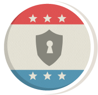 Icon design representing commitment to security.