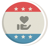 Icon design representing charitable and social benefit organizations.