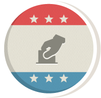 Icon design representing Super PACs.