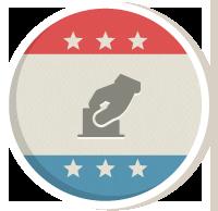 Icon design representing Super PACs.