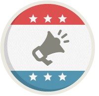 Icon design for campaign & committee operations.