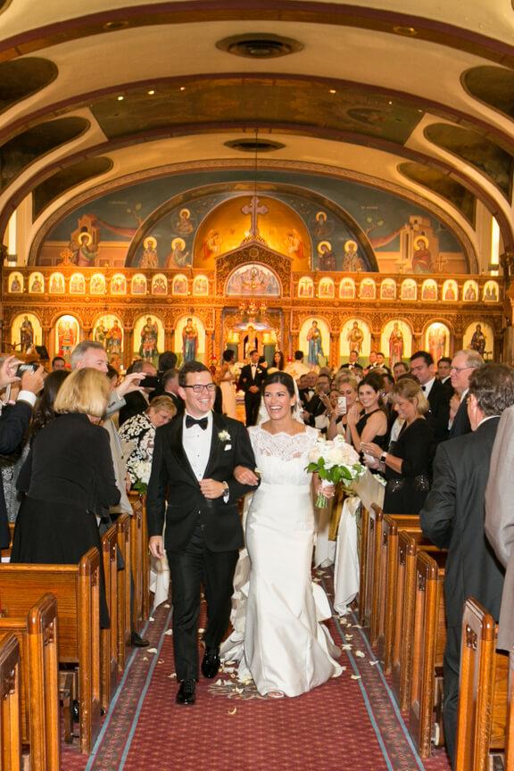 Beautiful Chicago Couple at Greek Wedding
