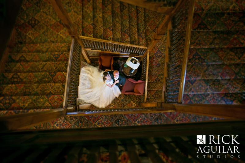 creative bride and groom photo