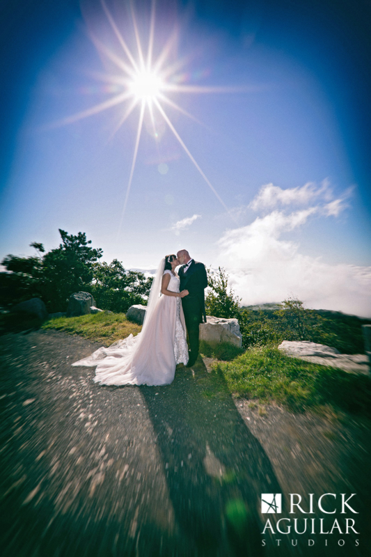 bride and groom portrait at Mohonk Mountain House wedding