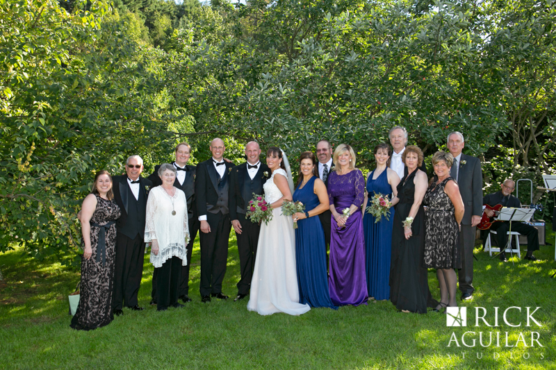 family portrait at Mohonk Mountain House wedding