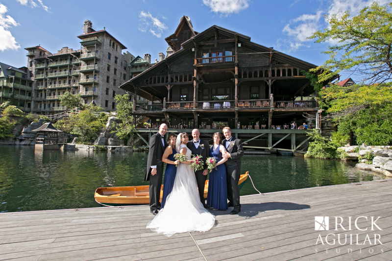 bridal party at the Mohonk Mountain House wedding