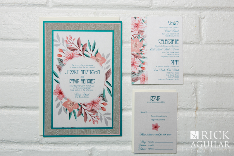 blue and silver invitation