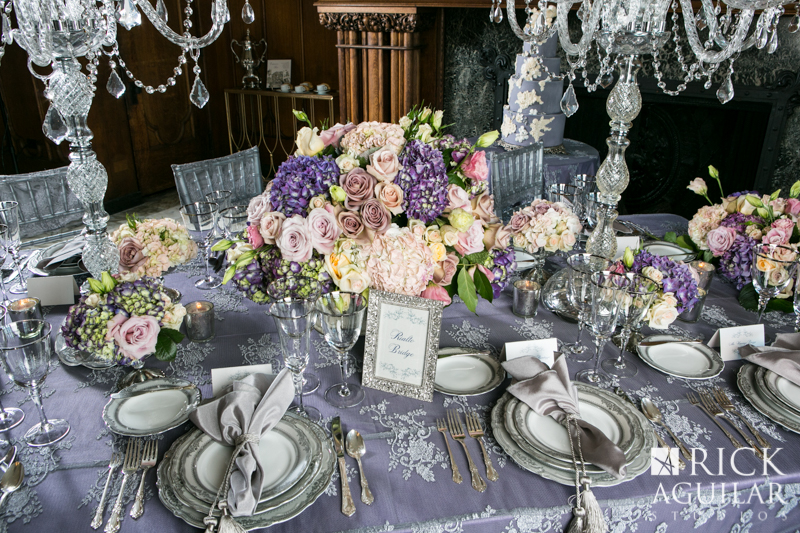 silver and purple wedding