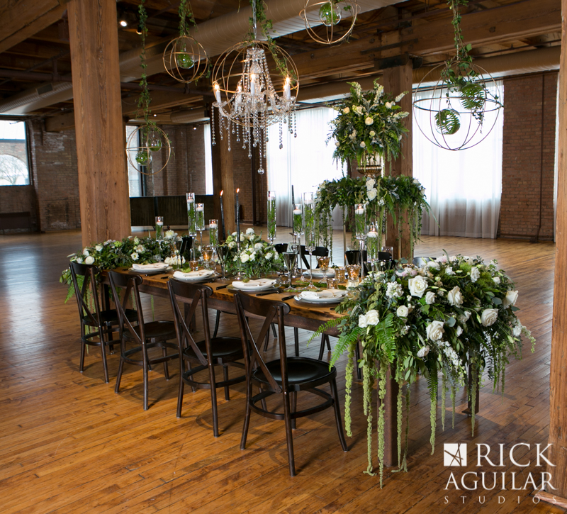 wedding table at Bridgeport center