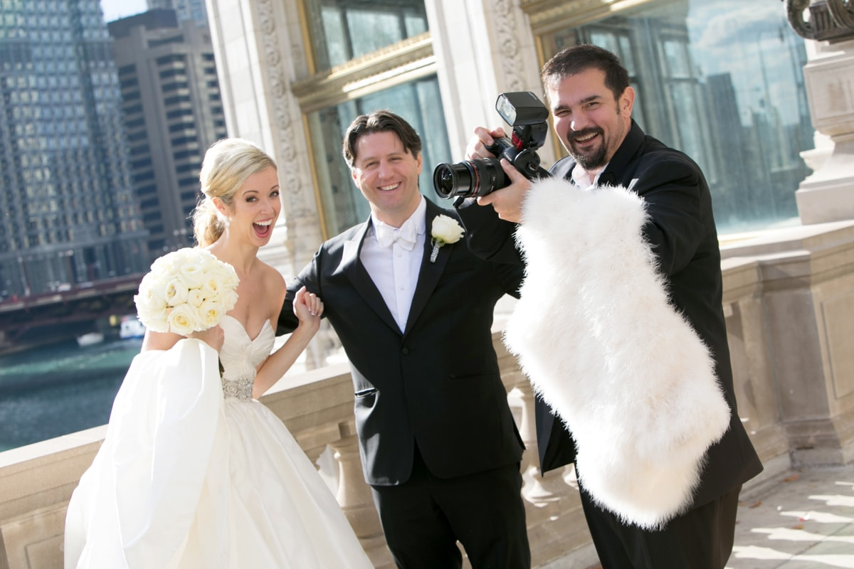 Chicago Wedding Photographer Rick Aguilar with happy couple