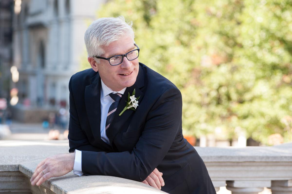 Casual portrait of groom