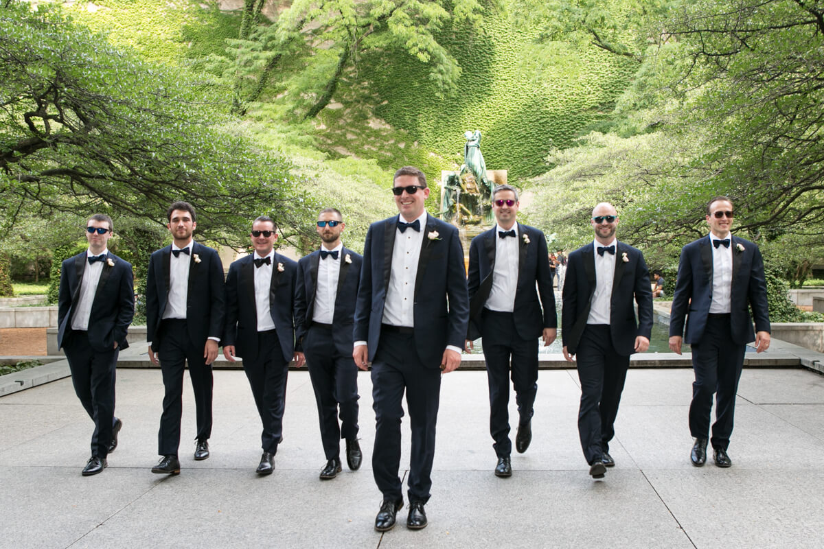 Art Institute Gardens with Groomsmen