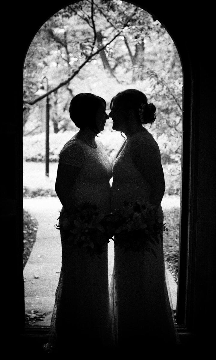 LGBT Wedding portrait in Silhouette