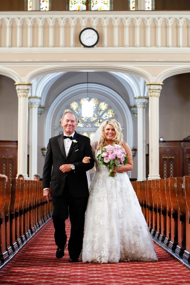 Wedding Processional at Chicago Church