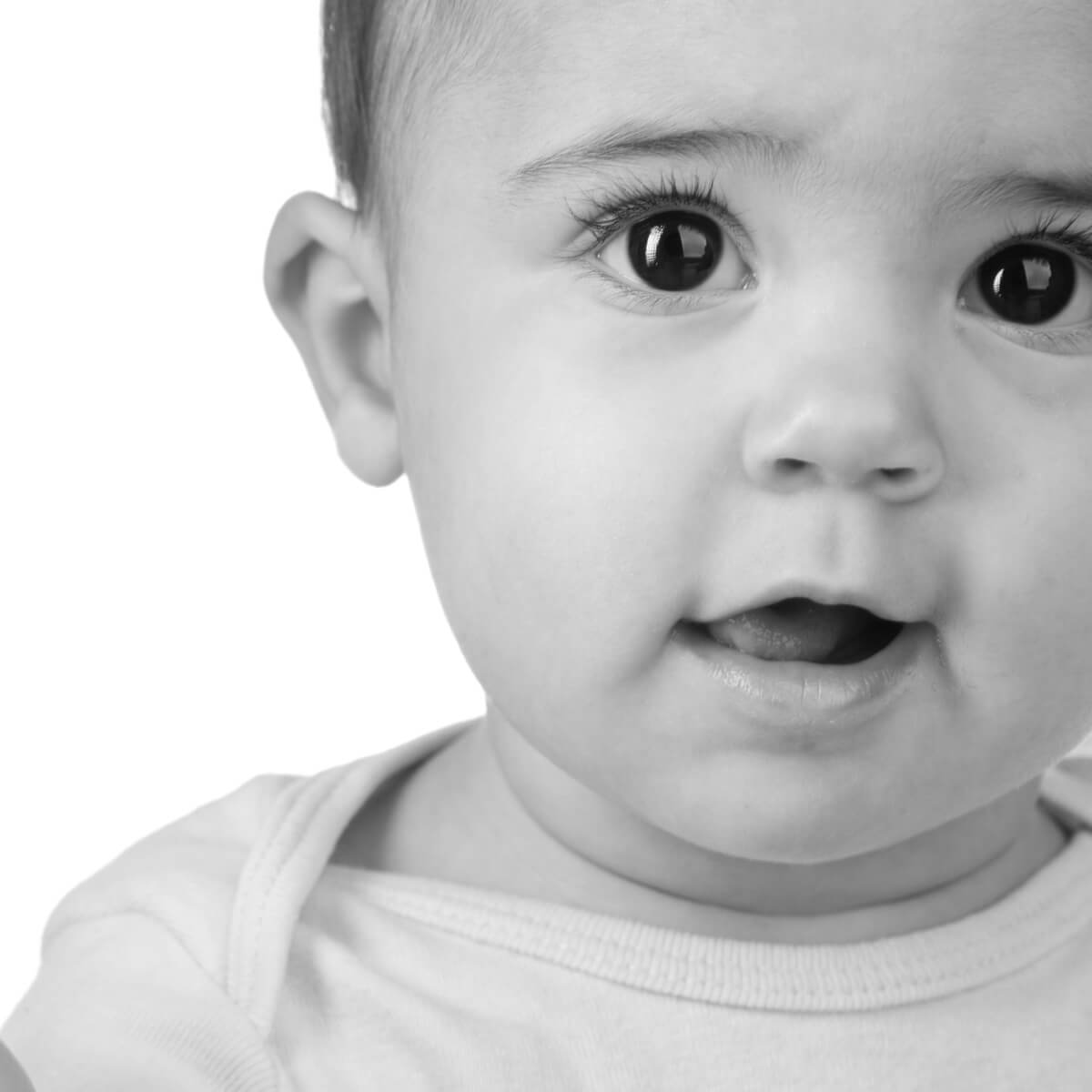 Baby Portrait with artistic crop