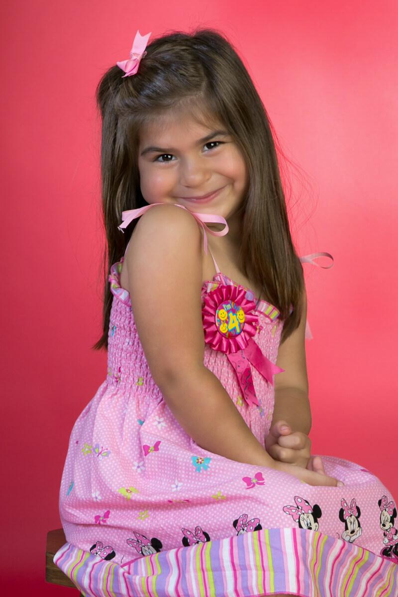 Birthday Portrait on pink background