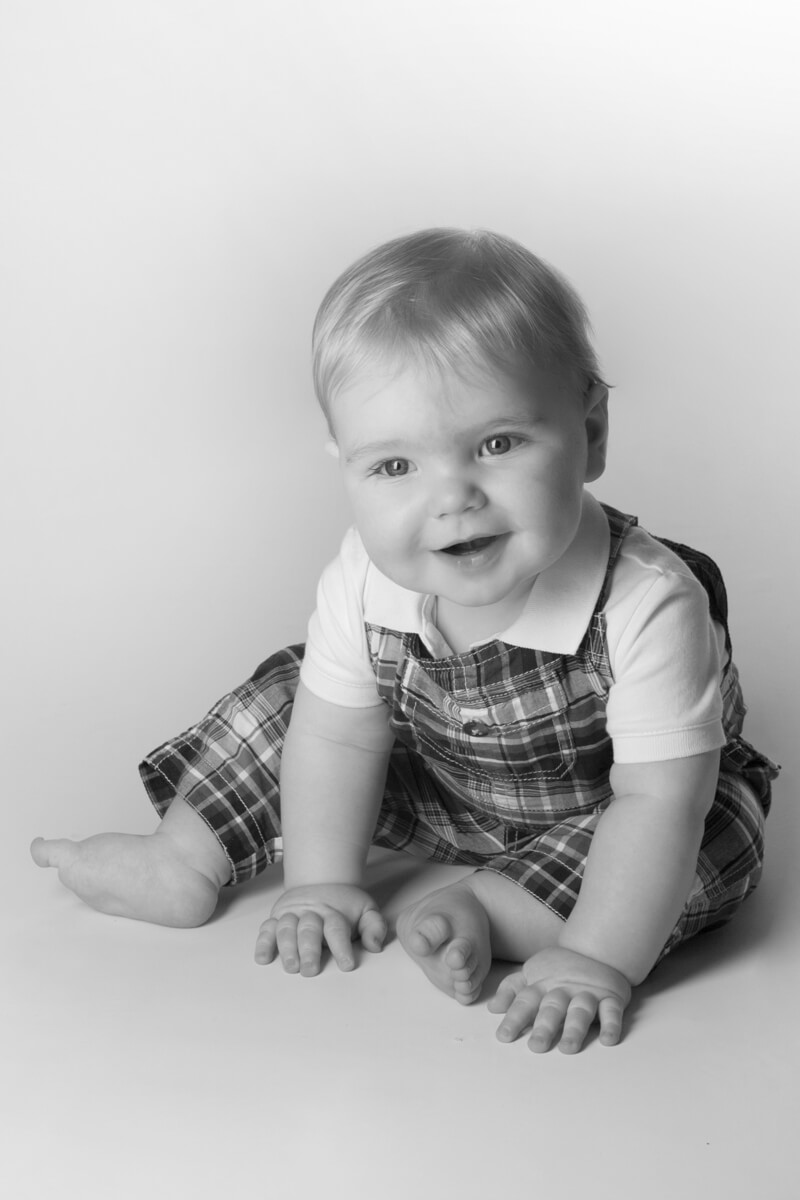 black and white baby portraits