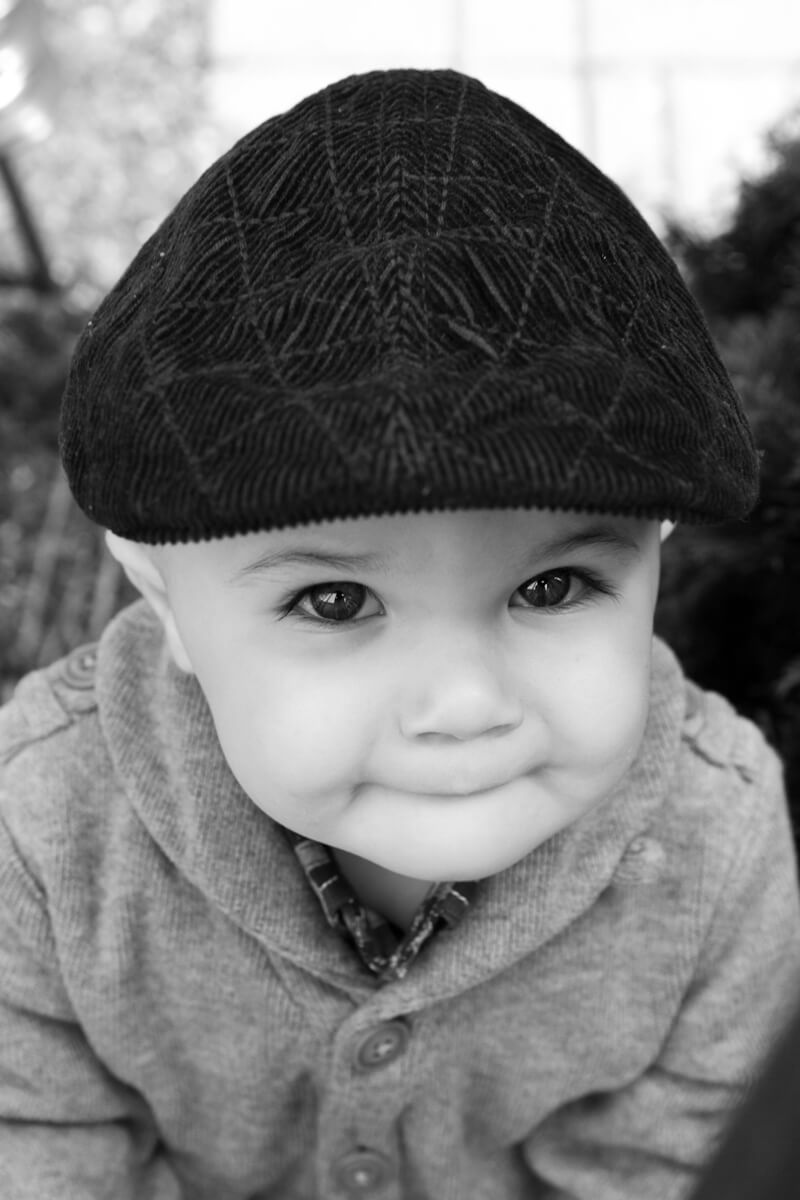 cute portrait of boy with hat