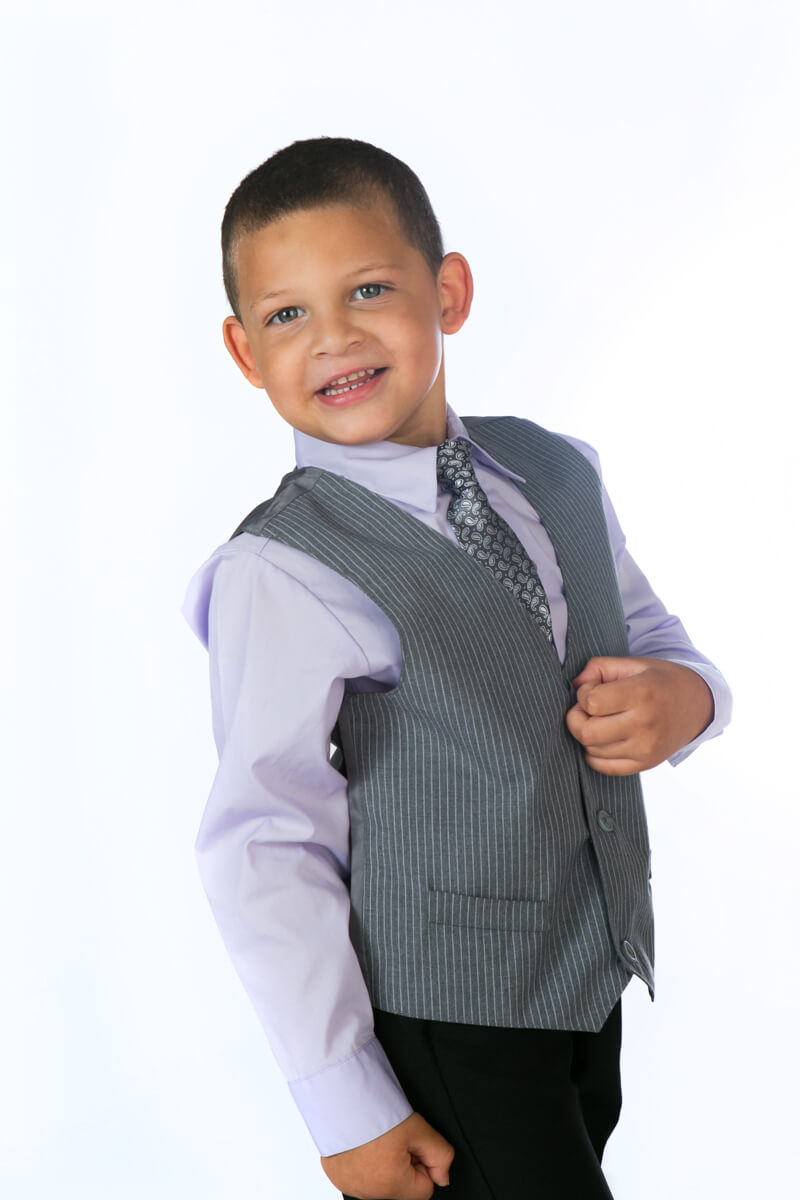 Dressy Boy Portrait in Studio